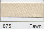 Essential Trimmings R77713/875 | Fawn Polycotton Bias Binding | 13mm x 20m