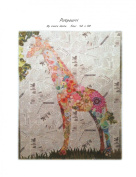 Potpourri Giraffe Collage Wall Hanging Quilt Pattern by Fiberworks