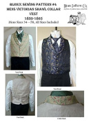 Men's Victorian Shawl Collar Vest 1850-1865 Sewing Pattern #4