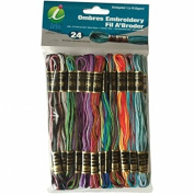 Iris I1380 Embroidery Thread Pack 8.75 Yard, Ombres - Pack of 24