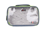 Clear Cosmetic Case, BUBM Waterproof Portable Travel Packing Organiser for Electronic Accessories, Bathroom Storage, Women Makeup Bag and Men Shaving Kit