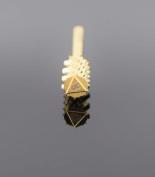 Triangle Large Gold Barrel Carbide Nail Bit 0.2cm