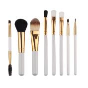 Kingfansion 8pcs Cosmetic Makeup Brush Blusher Eye Shadow Brushes Set Kit