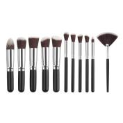 Toyofmine Makeup Brushes Set Premium Cosmetic Makeup Brush Synthetic Kabuki Cosmetics Foundation Blending Blush Eyeliner Face Powder Brush Makeup Brush Kit
