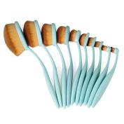 10 Professional Toothbrush makeup brush Soft Cosmetic Eyebrow Shadow Makeup Kit
