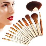 Brush 12 PCS Pro Rose Golden Makeup Brush Set Professional Brushes