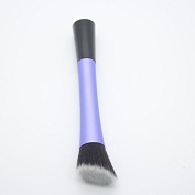 5 Types Daily Applications Contour Makeup Single Powder Blush Brush Cosmetic Tool Purple Flat-Angled
