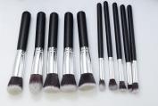 Makeup Brush Set 10pcs Cosmetics Foundation Blending Blush Eyeliner Face Powder Lip Brush