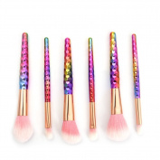 Hjuns 6pcs professional makeup brushes - Eyeshadow eyeliner Lip Brush Tool - Cosmetics Foundation brush