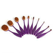 10 Professional Toothbrush makeup brush Soft Cosmetic Eyebrow Shadow Makeup Kit
