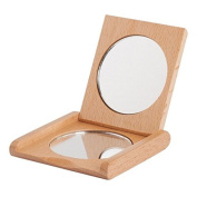 Bürstenhaus Redecker Oiled Beechwood Pocket Mirror, 7cm by 7cm