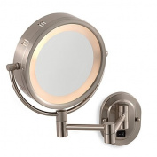 Jerdon 5X/1X Nickel Lighted Hardwired Wall Mount Mirror