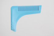 Beard Shaping Tool Comb Moustache Modelling Tools Clipper Trimmer Template for Sexy Man Gentleman Blue 1pcs