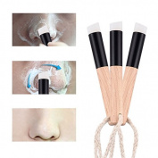 2pcs/lot Fibre Flat Nose Blackhead Remover Brush Pores Deep Cleansing Facial Cleanser Beauty Tool
