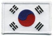 Korea Flag - Patch White Border (IRON-ON), Size 8.9cm x 5.7cm - us flag, american flag patch, south korea flag patch uniform school logo jacket - Sold by Uniform World