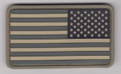 US MILITARY FLAG UNIFORM PATCH PVC RUBBER