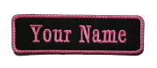Rectangular 1 Line Custom Embroidered Name Tag Sew on Patch