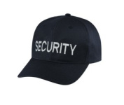 SECURITY - Cap/ Hat Patch - Silver/ Black, Adjustable - Police, Sheriff, CHP, Security, Cap Patch, Gaol, Prison, Corrections - Sold by UNIFORM WORLD