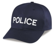 POLICE - Cap/ Hat Patch - White/ Dark Navy Blue, Adjustable - Police, Sheriff, CHP, Security, Cap Patch, Gaol, Prison, Corrections - Sold by UNIFORM WORLD