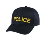 POLICE - Cap/ Hat Patch - Medium Gold/ Black, Adjustable - Police, Sheriff, CHP, Security, Cap Patch, Gaol, Prison, Corrections - Sold by UNIFORM WORLD
