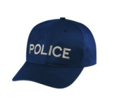 POLICE - Cap/ Hat Patch - Silver/ Dark Navy Blue, Adjustable - Police, Sheriff, CHP, Security, Cap Patch, Gaol, Prison, Corrections - Sold by UNIFORM WORLD