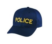 POLICE - Cap/ Hat Patch - Medium Gold/ Dark Navy Blue, Adjustable - Police, Sheriff, CHP, Security, Cap Patch, Gaol, Prison, Corrections - Sold by UNIFORM WORLD