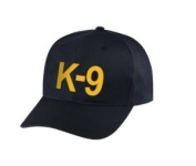 K9 - Cap/ Hat Patch - Gold/ Black, Adjustable - Police, Sheriff, CHP, Security, Cap Patch, Gaol, Prison, Corrections - Sold by UNIFORM WORLD