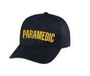 PARAMEDIC - Cap/ Hat Patch - Gold / Balck, Adjustable - Paramedic, EMT, EMS Nurse, Ambulance, First Responder - Sold by UNIFORM WORLD