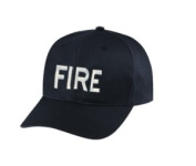 FIRE - Cap/ Hat Patch - White/ Black, Adjustable - Police Patch, Gaol, Prison, Corrections - Sold by UNIFORM WORLD