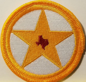 [Single Count] Custom and Unique (5.1cm Inches) TEXAS STATE STAR Symbol Embroidered Iron-On Patch TEXAN Emblem SOUTH Version VI Badge Iron-On Embroidered Applique Patch