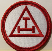 [Single Count] Custom and Unique (7.9cm Inches) Freemason Symbol Embroidered Iron-On Patch Masonry Emblem Mason Version VI Badge Iron-On Embroidered Applique Patch