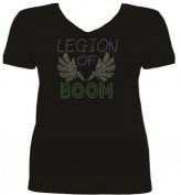 Rhinestone Seattle Football Legion Of Boom T Shirt SV 7EU8