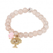Bracelet crystal pearl style white Glitzerkugel rosarosenbaum Brass adjustable