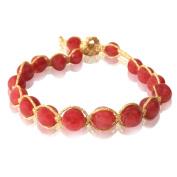 Designer silk thread bracelet red gold gems Bracelets adjustable
