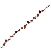 Stone Splitter Glasperlenarmband red ladies lobster clasp nickel free 18cm 20cm