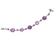 Pearl bracelet purple pearl rings slices Ladies lobster clasp nickel free 18cm 20cm