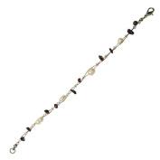 Stone Splitter pearl white dark purple bracelet Ladies lobster clasp 18cm-20cm nickel free