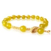 Designer silk thread bracelet light green gold gems Bracelets adjustable