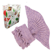 Mermaid Tail Blanket,Knitting mermaid,Christmas gift for kids,Ultra Soft & Convenient Children Style for Sofa, Bed linens, Camping and Travelling,8colours, by Dream Loom (140cm x 70cm )