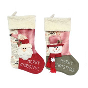 Santa Claus Christmas Stockings Cute Christmas Decor 46cm Length 2pcs