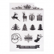 Lanlan 1pcs PVC Clear Stamps DIY Scrapbooking Craft Card Kindergarten Teacher Prizes Stamps for Kids Party Favour Toy Gift Stamping Supplies Christmas Series YC70 Art Ink Set