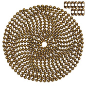 3m Length Ball Chain, #10 Size, Antique Brown, & 10 Matching 'B' Couplings