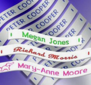 36 Woven Sew-on Name Tapes / Tags for School / Camp / Care Home