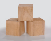 7.6cm Solid Wood Blocks Pack of 3