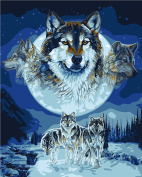 Plaid Creates Paint by Number Kit (41cm by 50cm ), 59775 Wolf Dreamcatcher