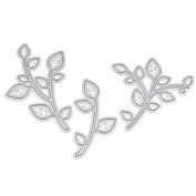 We-buys Cute Leaf Leaves Cutting Dies Stencil Metal Template for DIY Paper Card Album