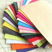 21 Sheets Summer Colours Collection Merino Wool blend Felt Sheets Sewing DIY Craft 15cm x 30cm