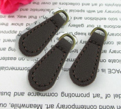 WellieSTR Zip Tags PU Leather Pulls Zipper Zip Fixer , Coffee (Pack of 10) Zipper Repair Pull