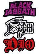 Set_ROCK011 - Black Sabbath Patch, Dio Patch and DEATH Music Songs Rock Patch, 3 Pcs Heavy Metal Patches, Applique Embroidered Patches - Rock Band Iron on Patches