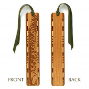 Evergreen Hiker Engraved Wooden Bookmark with Tassel